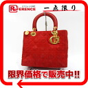 Dior lady dior suede handbag red gold metal fittings 》 for 《