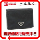 Two PRADA nylon fold wallet black 》 for 《