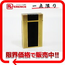 S テー Du Pont line 1L gas cigarette lighter black X gold 》 for 《