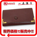 Six Cartier mast line leather key case Bordeaux 》 02P02Aug14 for 《