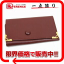 Six Cartier mast line leather key case Bordeaux 》 for 《