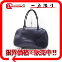"Prada leather Boston bag purple ""response.""-02P02Aug14"