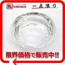 BVLGARI Rosenthal crystal ashtray ashtray Small clear 47502 like-new 》 for 《
