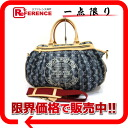 "Louis Vuitton 2007 Cruise line monogram denim ""カバレイエ GM"" 2WAY handbag blue M95336 》 fs3gm 02P05Apr14M for 《"