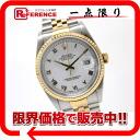 "Rolex Datejust mens watch big Roman SS×YG automatic self-winding 16233 X-s compatible.""fs3gm02P05Apr14M"