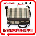 Burberry classical music check shoulder bag beige X brown 》 02P02Aug14 for 《