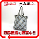 "Burberry reversible tote bag blue / black ""response.""-02P02Aug14"
