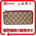 Gucci LOVELY (lovely) GG L-shaped zipper wallet beige x 295671 Bordeaux? s support.""