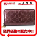 308005 《 correspondence 》 of gucci shiny gucci sima love Lee heart charm round fastener long wallet metallic Bordeaux origin