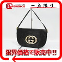 Owned by GUCCI Gucci leather bag semishoulder black 161727