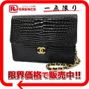CHANEL crocodile chain shoulder bag black 》 for 《