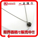 CHANEL 02A CC ball camellia pendant necklace black X silver 》 02P02Aug14 for 《