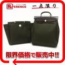 """トワルオフィシエールカーキ X dark brown gold metal fittings G 刻 》 with the HERMES """"yell bag ad"""" 2WAY rucksack substitute bag for 《"""