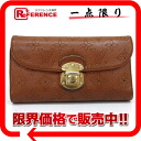 "Louis Vuitton mahina leather trifold wallet ""Amelia wallet"" Cognac M95996 ""support."""