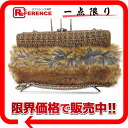 """Chanel Tweed x faux fur chain shoulder clutch bag Brown? s support."""""""