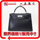 "Hermes handbags ""Kelly 32"" outside seam Bock scarf Navy silver bracket D ticking ""response."""