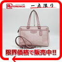 "Coach signature satchel 2WAY tote bag pink F16119 ""enabled."""