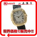 HERMES four bulldog Lady's watch K18YG X K18PG black co-leather belt FA1.270 Y 刻 》 for 《