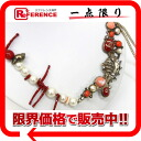 CHANEL shell & coralline chief fake pearl necklace multicolored 》 for 《