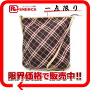 "Burberry Blue label check shoulder bag dark brown x pink beige ""response."""