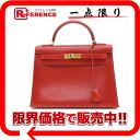 "HERMES handbag ""Kelly 32 sewing boxcalf red X gold metal fittings Z 刻 》 out of"" for 《"