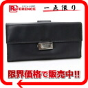"Gucci leather W hook length wallet black ""response."""