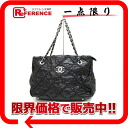 CHANEL ultra stitch wrinkle processing calf chain tote bag black 》 for 《