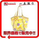 """Chanel flower canvas tote bag yellow """"support."""""""