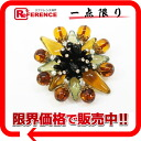 Multicolor / gold rhinestone brooch bijoux 96A Chanel? s support.""