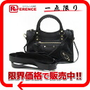 "BALENCIAGA ""classical music mini-city"" 2WAY handbag black 300295-free 》 for 《"