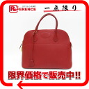 "Hermes ""boring 37"" handbag fjord Rouge G inscribed with shoulder strap ""response."""