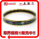 "Hermes cloisonne baked Bangle Bracelet "": PM"" Blue Series Gold BRACKET ""response."""