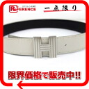 Hermes belt ash reversible 70 box Cafe x kshber white System x black silver metal fittings E ever-s compatible.""
