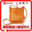 "Hermes ""Evelyn TPM"" shoulder bag debris Orange H engraved ""response."""