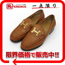 "》 of 36 HERMES leather Constance loafer ""hard"" Brown line for 《"