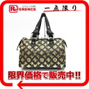 "Louis Vuitton Monogram Eclipse speedy 30 mini Boston handbag all (gold) M40244 ""enabled."""