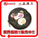 "Louis Vuitton Murakami Takashi Monogram Panda ""Ron portomonet"" round coin purse M61928 ""enabled."""