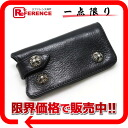 "Chrome hearts leather key case black ""response."""