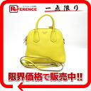 "Prada leather 2-WAY handbag yellow bl0502 ""enabled."""