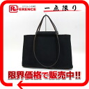 "Hermes SAC KABC PM 2WAY bag toil Office Black Silver bracket L ticking ""response."""