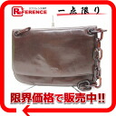 Prada leather plastic chain shoulder bag Brown? s support.""