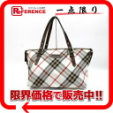 "Burberry Blue label Nova check tote bag canvas Brown x ivory of ""support."""