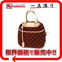 "M40922 brand new red handbags Louis Vuitton Monogram taftage 3D ""Deauville-cube"" as well as ""support."""