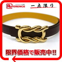 "Hermes belt reversible 65 kshber brown / yellow gold bracket Z ever-changing beauty products ""enabled."""