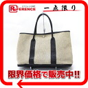 Hermes garden party PM tote bag toilasch black x grey G ticking? s support.""