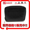 "Louis Vuitton EPI leather coin purse ""zippy coin purse"" Noir M60152 ""enabled."""