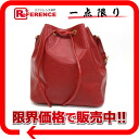 "Louis Vuitton EPI leather ""PTI Noel"" DrawString shoulder bag Castilian red M44107 ""enabled."""