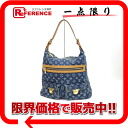"Louis Vuitton Monogram Denim shoulder bag ""buggy GM"" blue M95048"