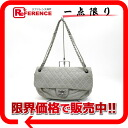 """Chanel lambskin quilted W chain shoulder bag grey series s correspondence."""""""