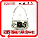 Chanel NO5 & Camelia canvas x enamel semishoulder bag beige × grey? s support.""